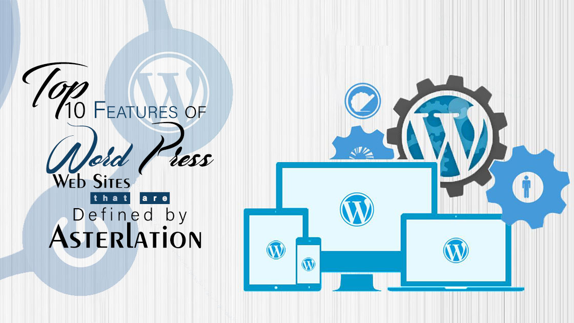 features of word press web sites